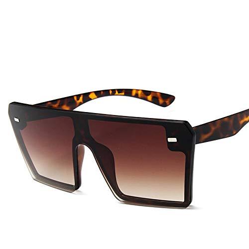 New Thin Flat Top Suqare Big Sunglasses Women Luxury Brand Designer Retro Tea (Top Designer-sonnenbrillen)