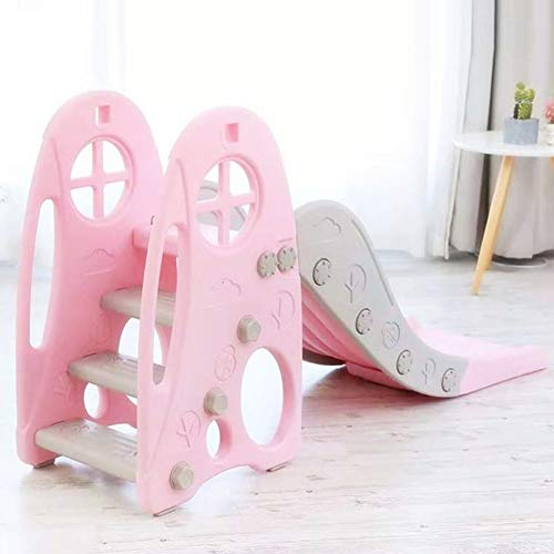 Thole Slide Climber for Boys Girls Indoor Outdoor Backyard Use First Slide Playground Plastic Play,Pink by Thole (Image #3)