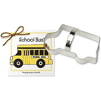 School Bus American Truck Shape Cookie Cutter Dough Biscuit Pastry Fondant Sharp