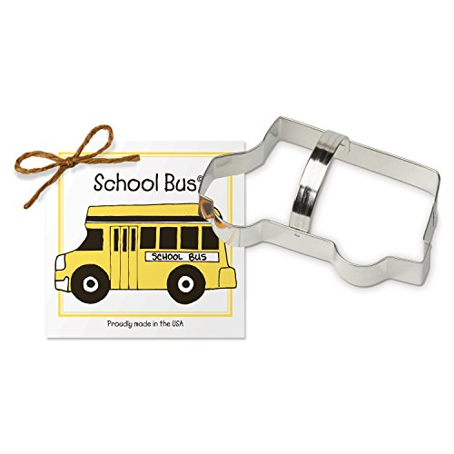 School Bus Cookie and Fondant Cutter - Ann Clark - 5.8 Inches - US Tin Plated Steel