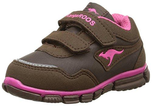 KangaROOS Inlite 3003A - zapatillas de running de material sintético Bebé-Niños marrón - Braun (dk brown/magenta 366)