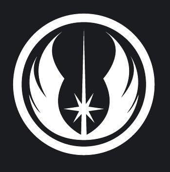 スターウォーズ STAR WARS ジェダイ オーダー Jedi Order ロゴ シンボルマーク ステッカー シール (デカール) ホワイト
