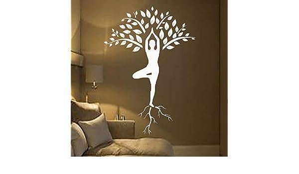 Calcomanías de pared de árbol para dormitorio Pegatinas de yoga ...