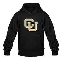 Men's CU Boulder Colorado Buffaloes Hoodies Jacket Pullover Hooded Sweater Black