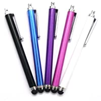 5 Pack High Quality HQ, HIGH CAPACITIVE STYLUS TOUCH PENS FOR IPAD 1, IPAD 2 New Apple iPad & iPad 3, ipad 4, ipad mini, Apple iPhone 5 5th 5G, IPHONE 4 4S, IPHONE 3GS, IPOD TOUCH 3 - IPOD TOUCH 4, SAMSUNG GALAXY TAB2 10.1 SAMSUNG GALAXY S3 i9300 - SAMSUNG GALAXY S2 i9100, SAMSUNG GALAXY ACE S5830 - HTC, Tablet pc, Asus Tablets, Advent, Samsung Galaxy, Blackberry Playbook & Phones, Smart phones, Android, Mobile Phones, PC, Nokia, LG, Sony Ericsson, Nexus, Fire, Kindle and all other Capacitive Screens Devices - Universal Stylus Touchscreen pens