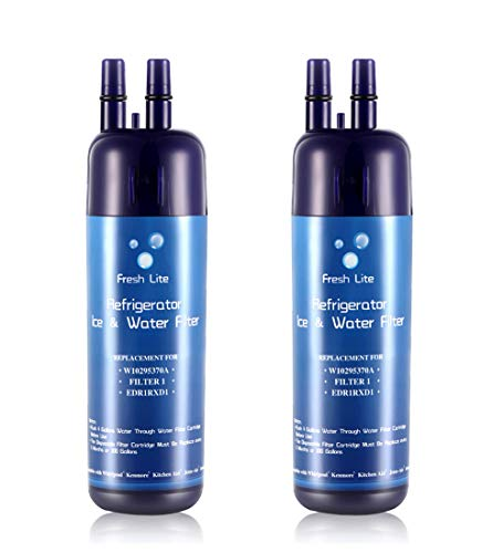 Fresh Lite W10295370a W10295370 Refrigerator Water Filter 1 Compatible with P4RFWB EDR1RXD1 Pur Filter 1 Kenmore 46-9930 Kenmore 46-9081-2 Pack