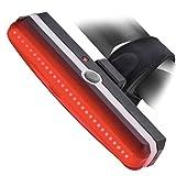 Timotech Sora® Luz Trasera Recargable de Leds para Bicicleta. Modelo V2 / Reflector para Bici Resistente al Agua. Bike Flash Light. Medidas: 87 * 20 * 30mm