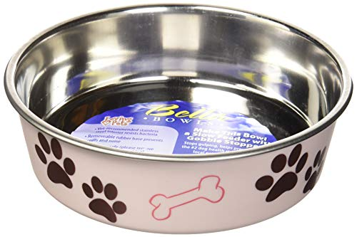 (Loving Pets Bella Bowl for Dogs, Medium, Paparazzi Pink)