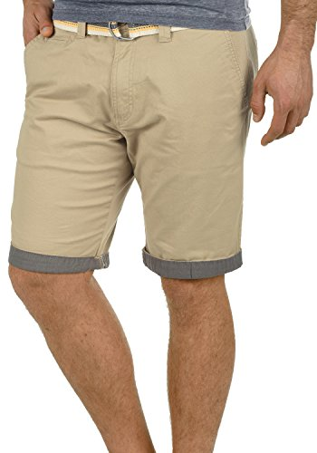 Lagos Bermuda Extensible solid Homme Pantalon Dune Coupe Short Ceinture 5409 Court Chino Régulaire O6gqfdgwx