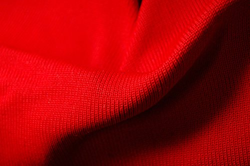 Material Knit Rib (Neotrims Polyester Stretch Knit Rib Fabric to Trim Garments, Waistbands, Cuffs and Welts or for Outerwear. Light Weight Jersey Material for Apparel, Resilient, Sports Look, Light Sheen: Black, Royal Blue, Navy, Purple, White, Wine, Cerise and Red Colours)