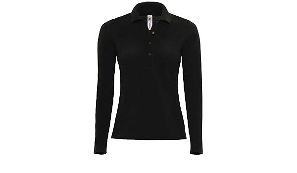 B&C Ladies Safran long-sleeved polo shirt: Amazon.es: Deportes y ...