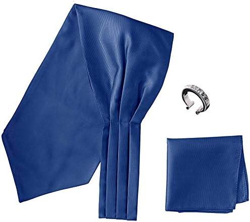アスコットタイ・ポケットチーフ・タイリング マイクロポリ採用 チーフ メンズ タイリング:No.6 チーフ/タイ(タイプ/カラー):NavyBlue-B