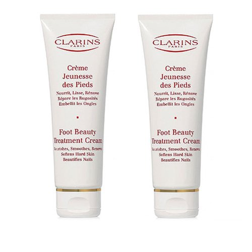 2pcs Clarins Foot Beauty Treatment Cream 125ml X2= 250ml Dry Feet Legs by Clarins
