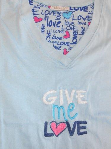 Rene Rofe Women's RR-Cotton V-Neck Embroidered Nightshirt