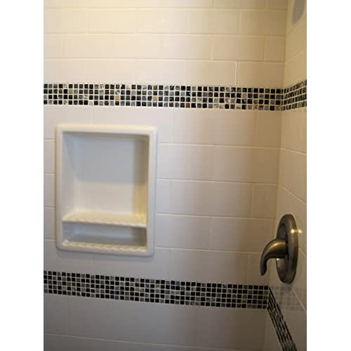 On Sale Super Tile Recessed Shampoo Shower Niche Gloss White Shelf - Bathroom niches for sale