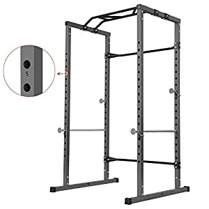 Kicode Power Squat Rack, Heavy Duty Multi-Function Power Cage Rack, Home Gym Exercise Bench Press Weightlifting Workout Station, Weight Capacity 800 Pounds