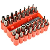 SE 7519SD 33-Piece Security Bit Set with Magnetic Extension Bit Holder