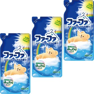 ファーファ 濃縮 柔軟剤 詰替3個セット ベビーフローラルの香り