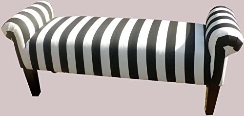 Brand new Amazon.com: Large Black and White Striped Vanity Rolled Arm  TJ54