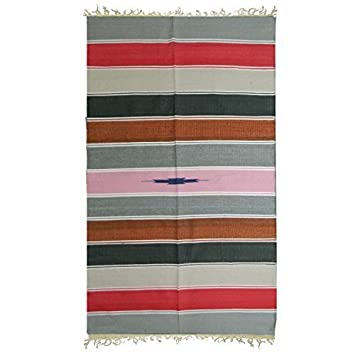Indischerbasar De Teppich 190 X 100 Cm Bunt Gestreift Baumwolle