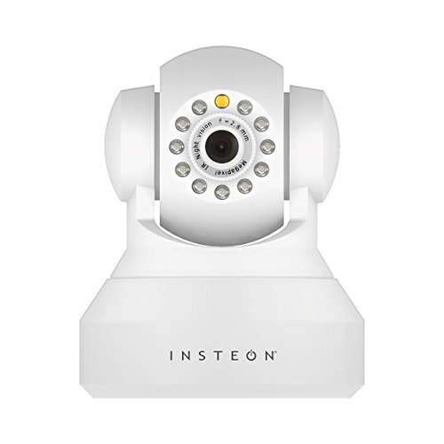 Insteon 75790WH Wireless Security IP Camera with Pan, Tilt a