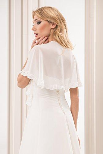 Bianco in Chiffon da Fine Scialle Sposa Nuziale ZEqngY