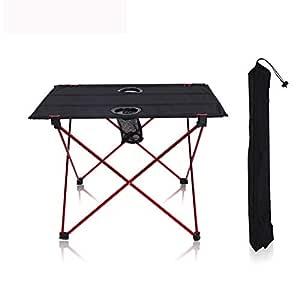 SHKY Mesas de Picnic para Acampar Plegables con portavasos ...