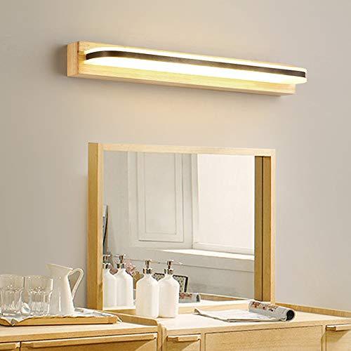 DFFH LED Mirror Headlight Nordic Style Modern Minimalist Japanese Style Solid Wood -