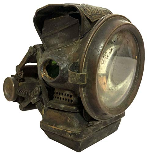 Antiques World Vintage Old Rare Jos. Lucas Club New Holophote Birmingham Silver King Antique Bicycle Oil Lamp Lantern Light Made in England AWUSAML 089
