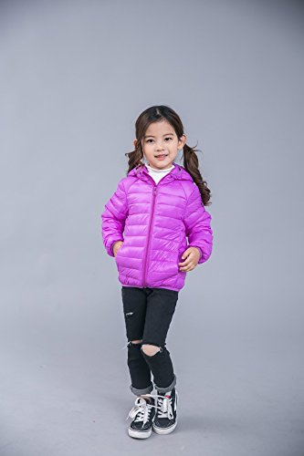 Jacket pink Baby Hoodie Winter Kids Girls Down Coats Pink Size Lightweight Baby 2 3T Boys Fairy Packable FanfSYY