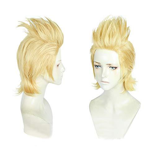 Anime Short Light Blonde Cosplay Wig Men Boys' Christmas Halloween Party -