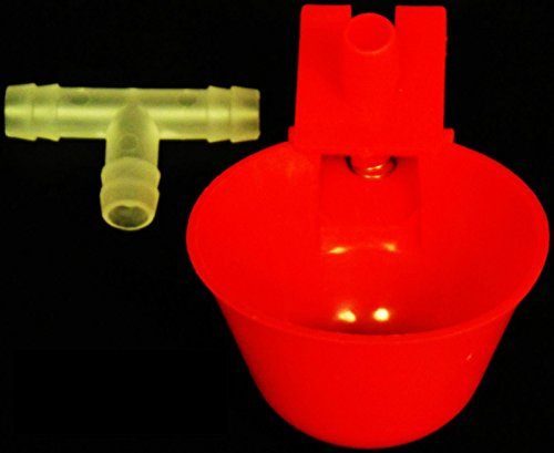 - (24) RITE FARM PRODUCTS AUTO WATERER DRINKER CUPS & BARBED FITTINGS CHICKEN POULTRY