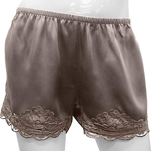Gold Hawk Silk & Floral Lace Shorts