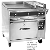 Southbend SE36A-HHH 36 Heavy Duty Electric Range w/ (3) 12 Hot Tops & (1) Convection Oven