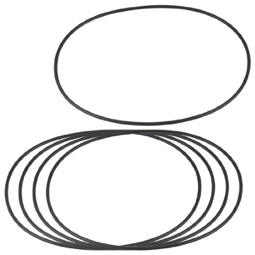 DealMux 5 Pcs 160mm x 3.1mm Flexible Rubber O Rings Sealing Washer Black DLM-B00A783XAY