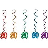 80 Whirls (asstd colors)    (5/Pkg)