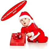 Santa Claus Dress Costume for Boys Girls Kids (0-12 Months) by ARCK