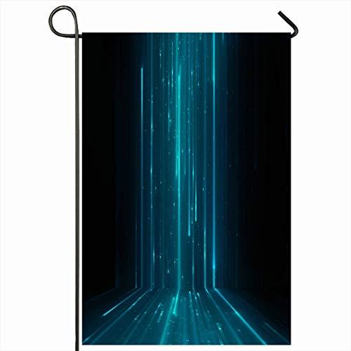 Virtual Matrix Software - Ahawoso Outdoor Garden Flag 12x18 Inches Floor Blue Grid Abstract Matrix Like Green Binary Cyber Techno Science Design Software Seasonal Home Decorative House Yard Sign