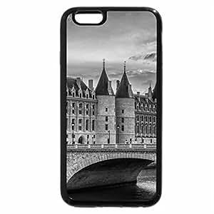 iPhone 6S Case, iPhone 6 Case (Black & White) - la conciergerie palace on the seine inparice