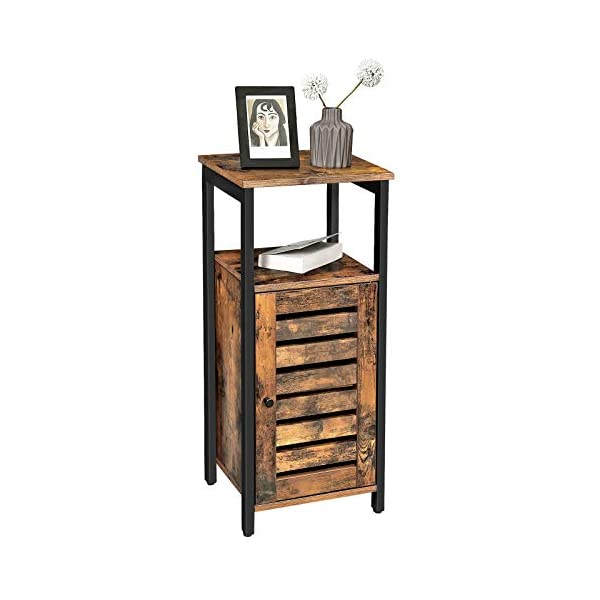 VASAGLE LOWELL Storage Cabinet, Standing Cabinet, Industrial Floor Cabinet, Side Cabinet with Shelf, Multifunctional in…
