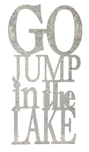 Go Jump in The Lake 3-D Cursive Metal Wall Decor