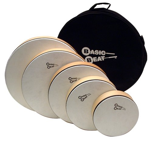 Basic Beat Set of 5 Pretuned Hand Drums with Bag