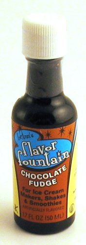 Fudge Unsweetened Chocolate (Flavor Fountain Ice Cream Flavoring - 1.7oz bottle - Chocolate Fudge)