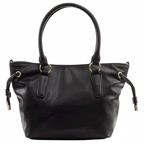 Love Moschino Women's Peace Black Leather Bucket Tote Handbag by Love Moschino (Image #3)