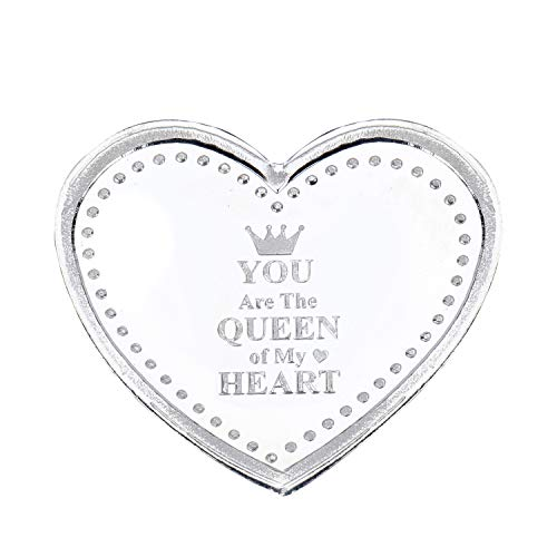 Ananth Jewels Pure Silver 10 grams Heart Shaped Gift for Girlfriend you are the queen of my heart