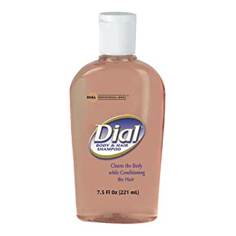 Dial 4014 Body and Hair Liquid Soap, 7.5 oz Flip Cap Bottle (Case of 24)