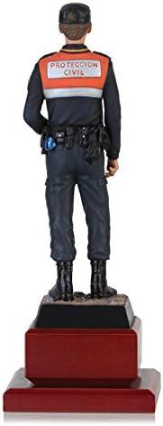 Figura de un agente de Protección Civil réplica artesanal pintada a mano: Amazon.es: Juguetes y juegos