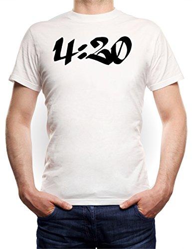 4:20 T-Shirt Bianco