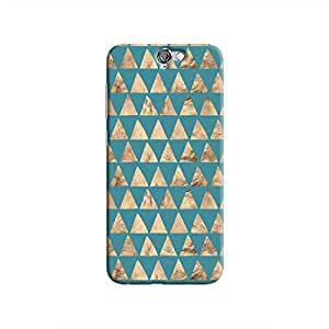 Cover It Up - Brown Blue Triangle Tile One A9 Hard Case