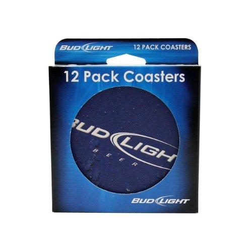 Boelter 179626 Bud Light Coasters - 12 Pack]()